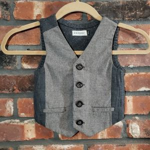 Jean Bourget Boys' Button-front Checkered Vest